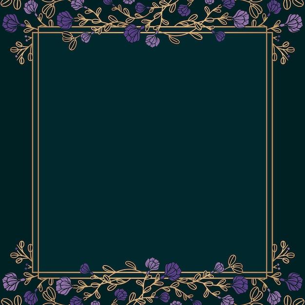 Ilustração de maquete floral botânica