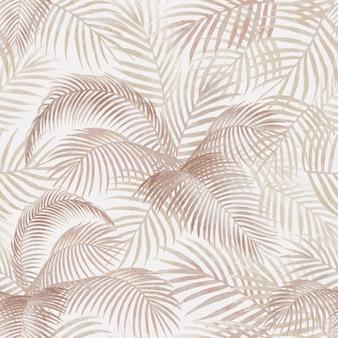 Ilustração de maquete padrão de folhas de palmeira