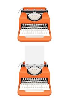 Ilustração de máquina de escrever vintage isolada no fundo branco