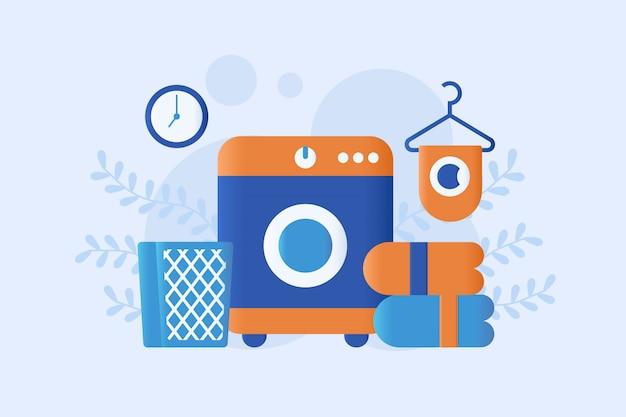 Ilustração de máquina de lavar