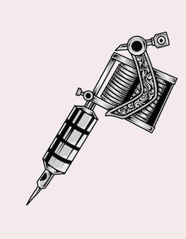 Ilustração de máquina de tatuagem