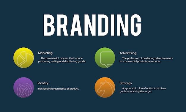 Ilustração de marca de marketing