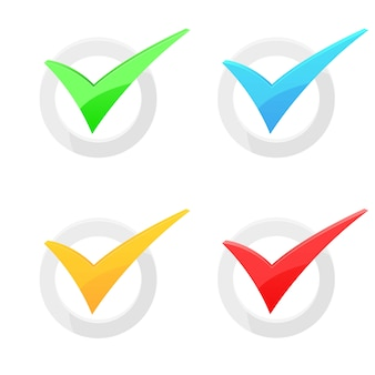 Ilustração de marca de verificação isoalted em fundo branco