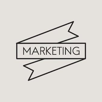 Ilustração, de, marketing, bandeira