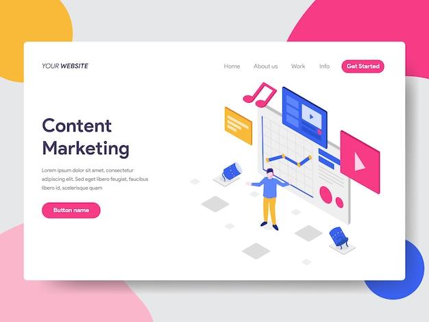 Ilustração de marketing de conteúdo