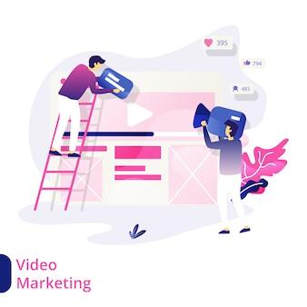 Ilustração de marketing de vídeo