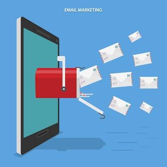 Ilustração de marketing por e-mail