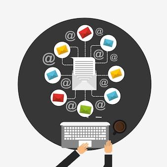 Ilustração de marketing por email