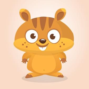 Ilustração de marmota dos desenhos animados