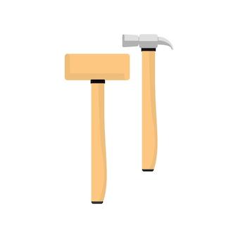 Ilustração, de, martelo, equipamento