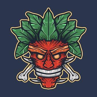 Ilustração de máscara apache
