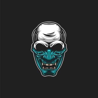 Ilustração de máscara de caveira