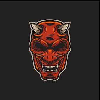 Ilustração de máscara de demônio