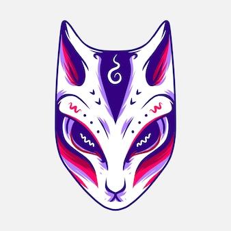 Ilustração de máscara de nakimo fox