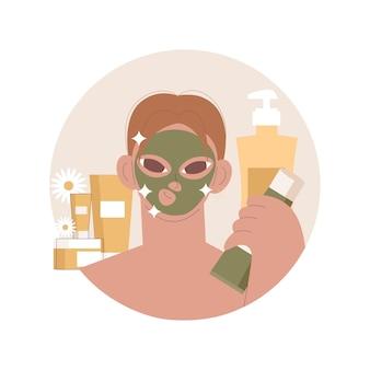 Ilustração de máscara facial