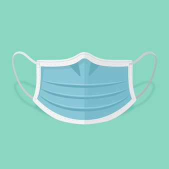 Ilustração de máscara médica de design plano