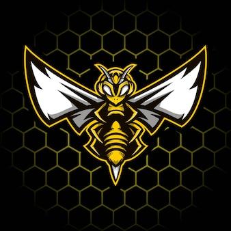 Ilustração de mascote de abelha