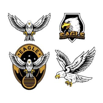 Ilustração de mascote de águia
