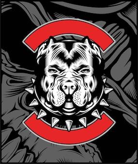 Ilustração de mascote de bulldog