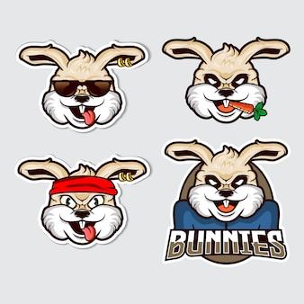 Ilustração de mascote de coelho