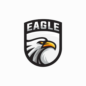 Ilustração de mascote de logotipo de águia