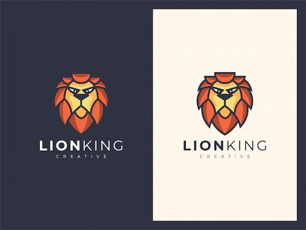Ilustração de mascote logotipo cabeça leão exclusivo