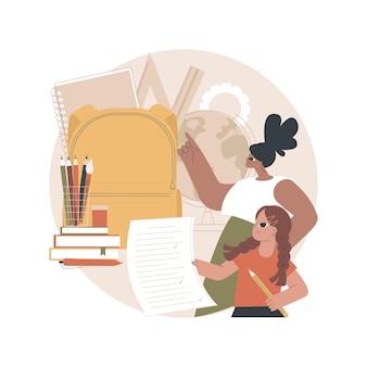 Ilustração de material escolar