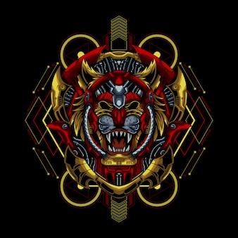 Ilustração de mecha tiger