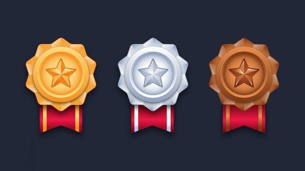 Ilustração de medalhas de campeão