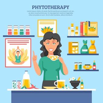 Ilustração de medicina alternativa
