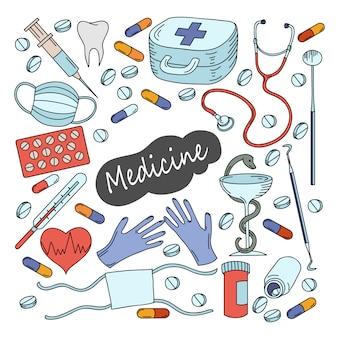 Ilustração de medicina dos desenhos animados.