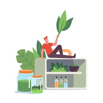 Ilustração de medicina tradicional alternativa