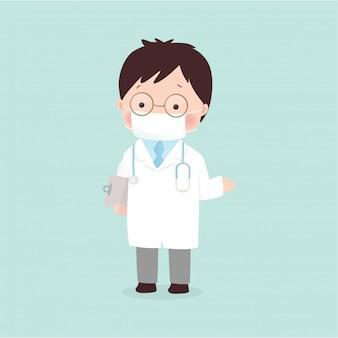 Ilustração de médico em estilo simples