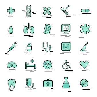 Ilustração, de, médico, ícone
