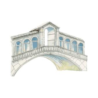 Ilustração, de, mediterrâneo, cidade