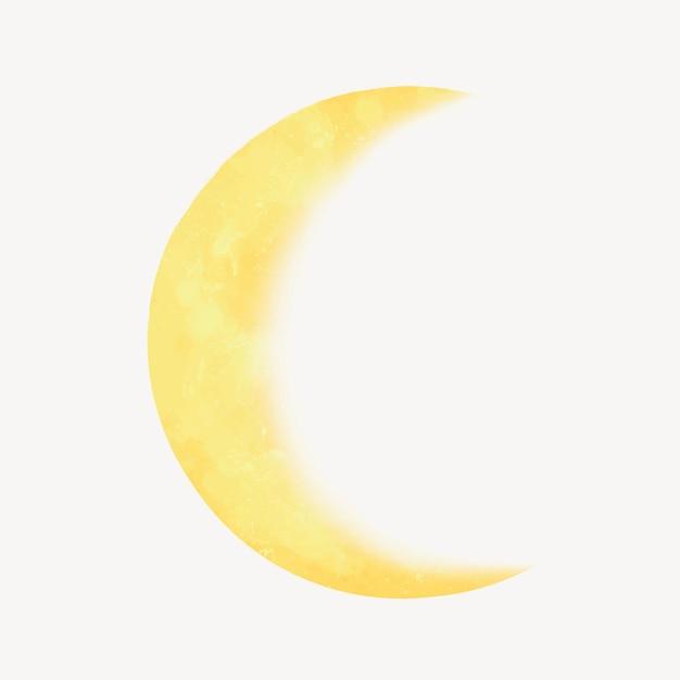 Ilustração de meia lua amarela