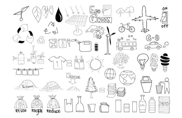 Ilustração, de, meio ambiente