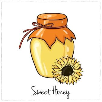 Ilustração de mel para menus de design