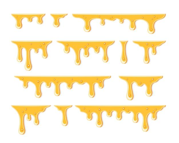 Ilustração de mel pingando desenhada à mão