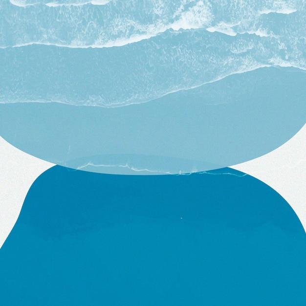 Ilustração de memphis com design abstrato em azul