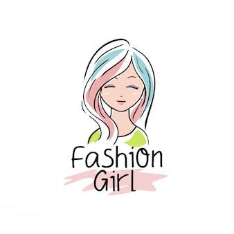 Ilustração de menina bonita