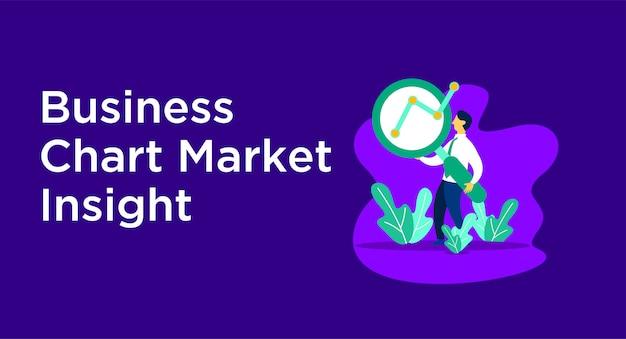 Ilustração de mercado gráfico de negócios