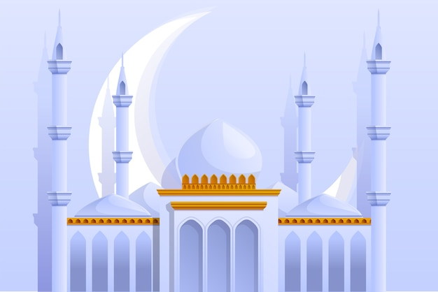Ilustração de mesquita branca
