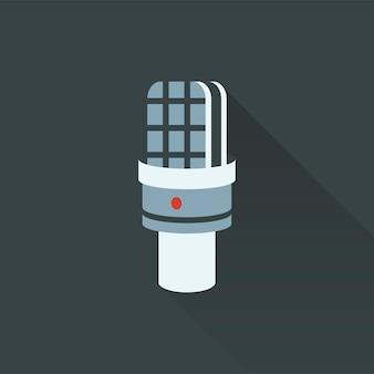 Ilustração, de, microfone, ícone