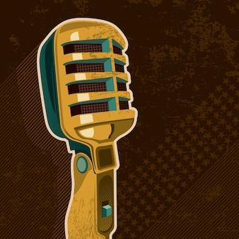 Ilustração de microfone retrô