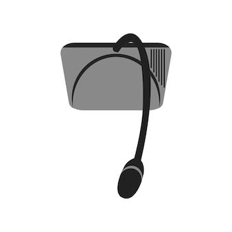 Ilustração, de, microfone