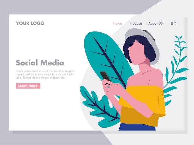 Ilustração de mídia social para a página de destino