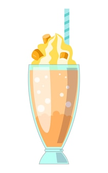 Ilustração, de, milkshake