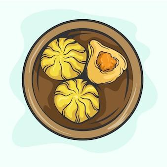 Ilustração de modak desenhada à mão