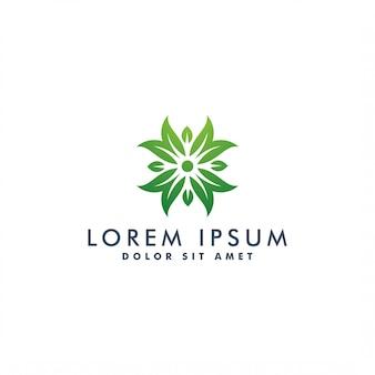Ilustração de modelo de design de logotipo de flor natureza
